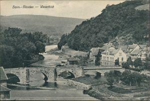Hannoversch Münden Hann. Münden Stadt, Brücke - Weserblick 1916