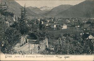 Gries-Bozen Bolzano Partie v.d. Erzherzog Heinrich Promenade 1905