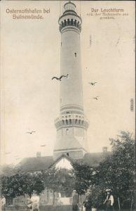 Osternothafen (Ostswine)-Swinemünde Warszów Świnoujście Leuchtturm, Frauen 1906