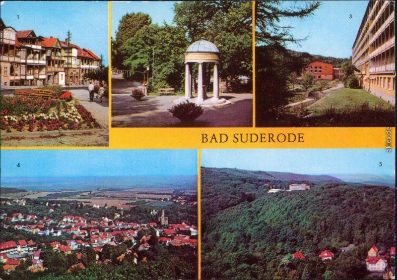 Bad Suderode  Rathausplatz  Behringer-Brunnen Sanatorium