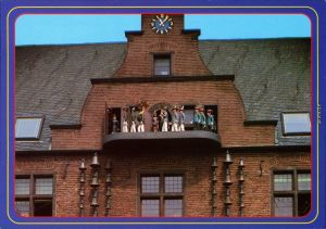 Ansichtskarte Neuss Quirinus Münster - Glockenspiel 1985