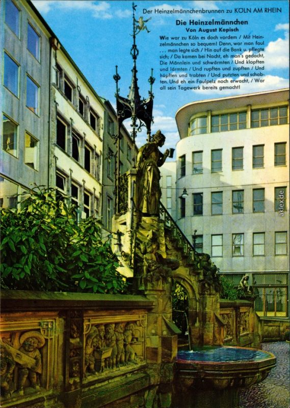 Ansichtskarte Köln Coellen | Cöln Heinzelmännchenbrunnen 1985