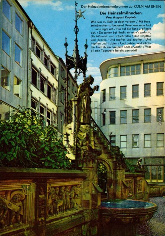 Ansichtskarte Köln Coellen | Cöln Heinzelmännchenbrunnen 1975