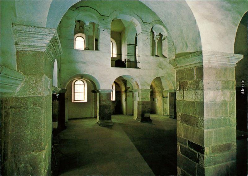 Höxter (Weser) Schloß Corvey - Westhalle mit Kaiserloge und Wandmalerei 50