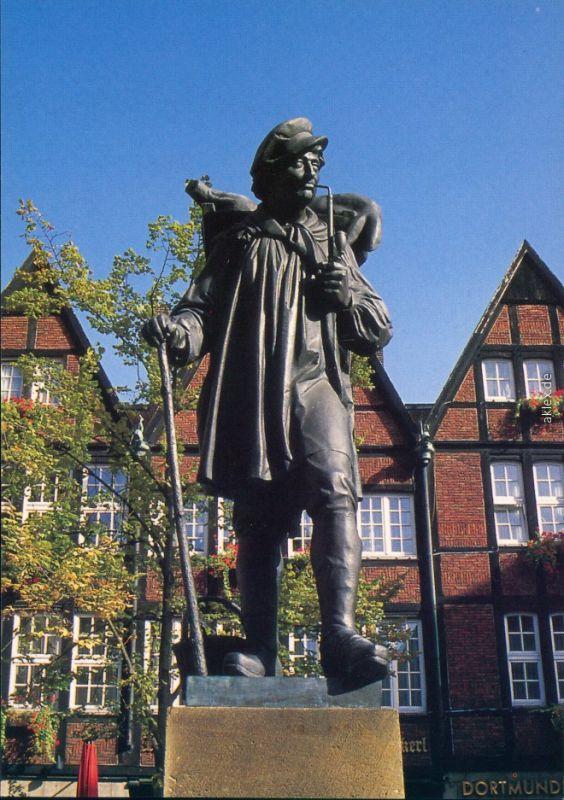 Ansichtskarte Münster (Westfalen) Kiepenkerl - Denkmal 1985