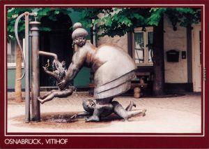 Ansichtskarte Osnabrück Brunnen