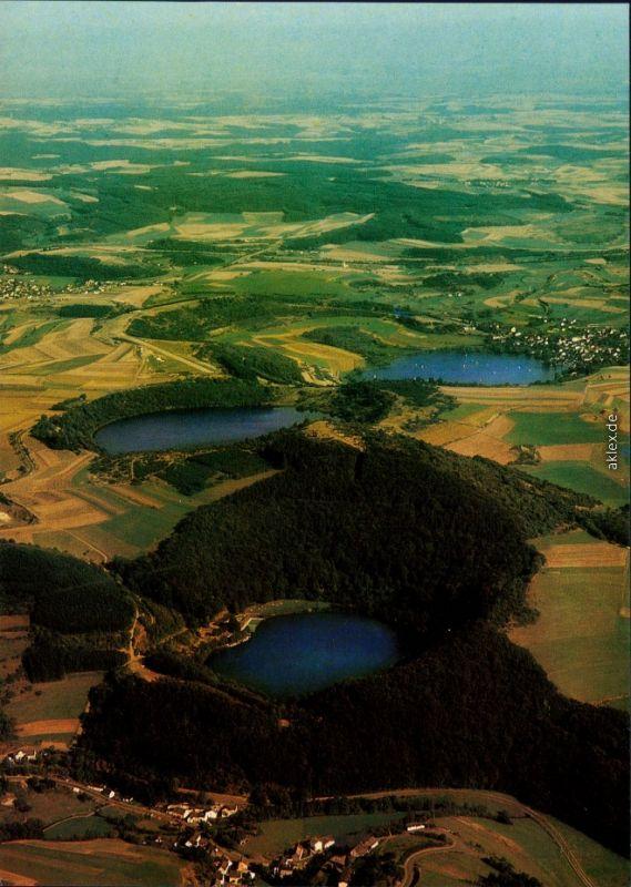 Ansichtskarte Gemünden-Daun Gemündener Maar 1982