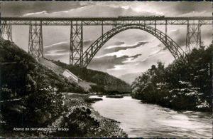 Ansichtskarte Remscheid Müngstener Brücke | Kaiser-Wilhelm-Brücke 1961