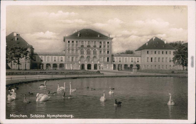 Ansichtskarte München Schloss Nymphenburg 1930