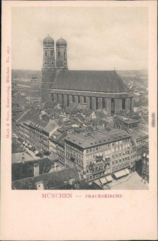 Ansichtskarte München Platz, Geschäfte und Frauenkirche 1911