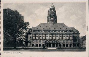 Ansichtskarte Innere Altstadt-Dresden Straße Neues Rathaus 1939