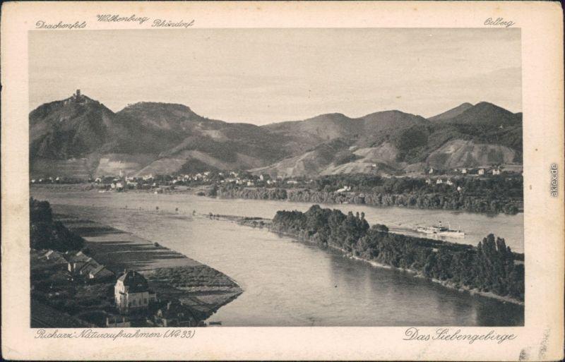 Ansichtskarte Königswinter Drachenfels 1925