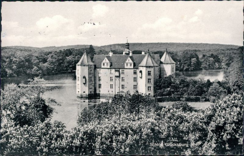 Ansichtskarte Römhild-Gleichberge Schloss Glücksburg 1959