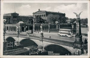 Ansichtskarte Berlin Nationalgallerie, Kahn - Doppelstockbus 1932