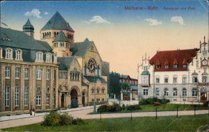 Ansichtskarte Mülheim an der Ruhr Partie an der Synagoge 1924