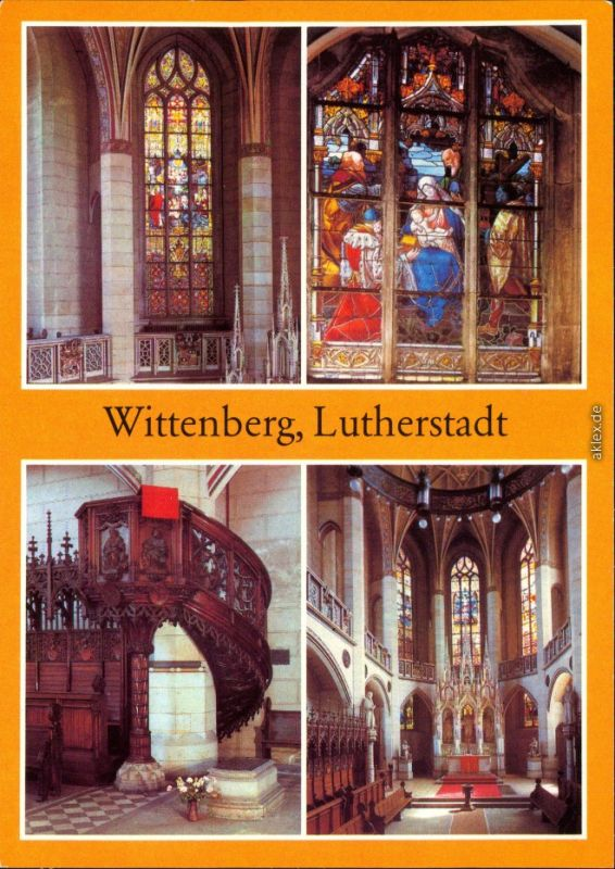 Lutherstadt Wittenberg Schloßkirche Ansichtskarte  1983