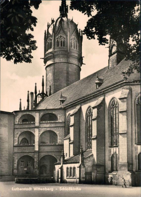 Ansichtskarte Lutherstadt Wittenberg Evangelische Schloßkirche 1962