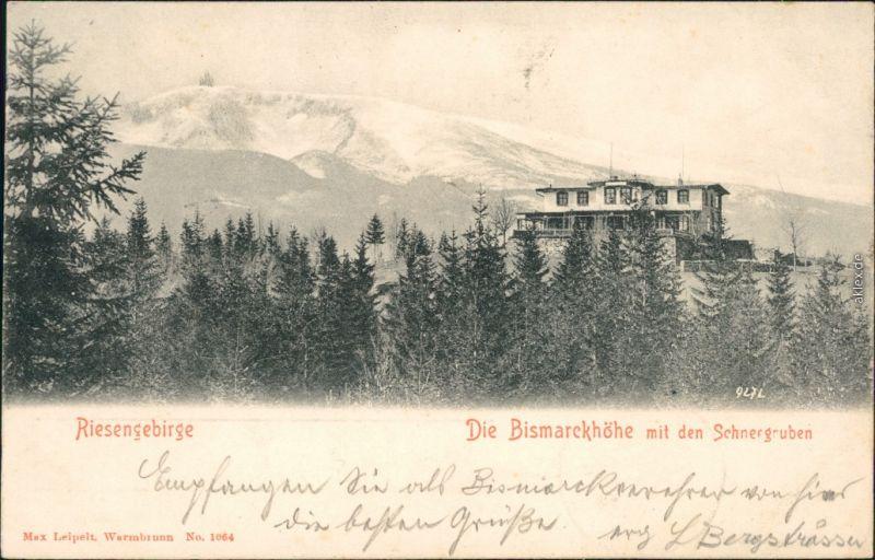 Agnetendorf Hirschberg Schlesien  Jelenia Góra Bismarckhöhe Schneegruben 1902