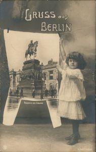 Berlin Denkmal Friedrich des Großen - Mädchen - Fotokunst 1906