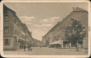Ansichtskarte Northeim Geschäfte - Partie in der Breite Straße 1923