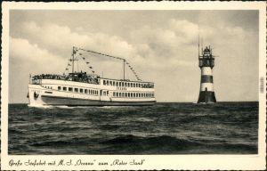 Ansichtskarte Wangerooge M.S. Oceana zum Roter Sand 1957