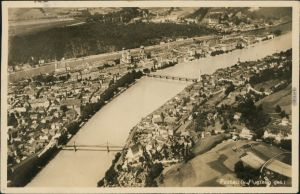 Ansichtskarte Passau Luftbild aus großer Höhe 1933