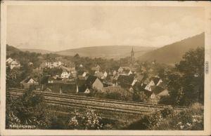 Ansichtskarte Neckargerach Blick über die Bahnstrecke auf die Stadt 1930