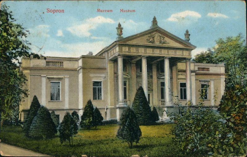 Ansichtskarte Ödenburg Sopron Muzeum/Partie am Museum 1913