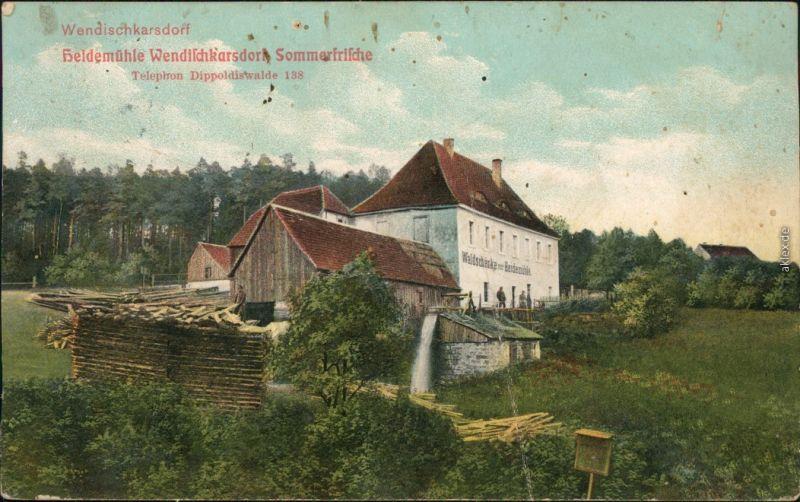 Karsdorf (ehemals Wendisch-Carsdorf)-Rabenau Heidemühle Wendischkarsdorf 1913