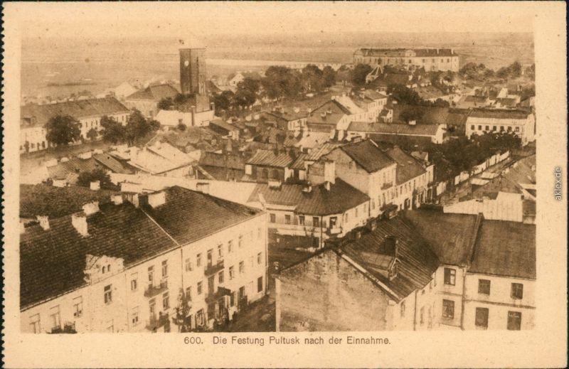 Pultusk (1941-45 Ostenburg) Pułtusk Blick über die Stadt 1915