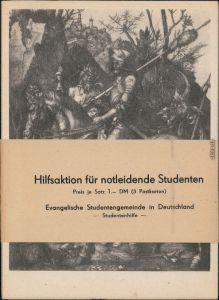 3 Ansichtskarten  Albrecht Dürer, Hilfsaktion für notleidende Studenten