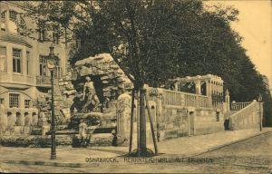 Ansichtskarte Osnabrück Herrnteichswall mit Brunnen 1911