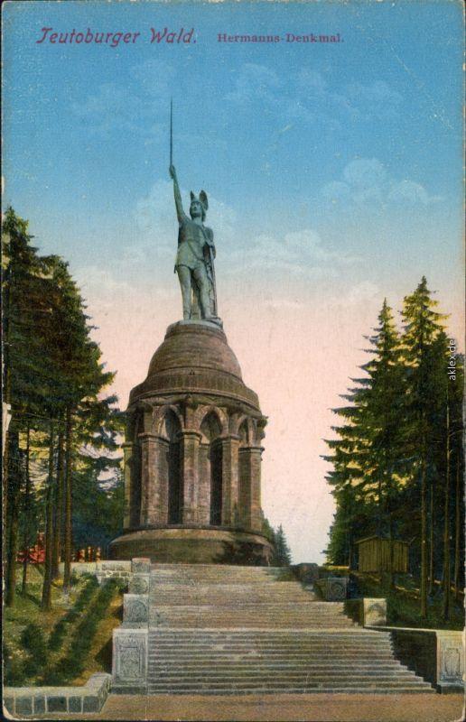 Ansichtskarte Hiddesen-Detmold Hermannsdenkmal 1913