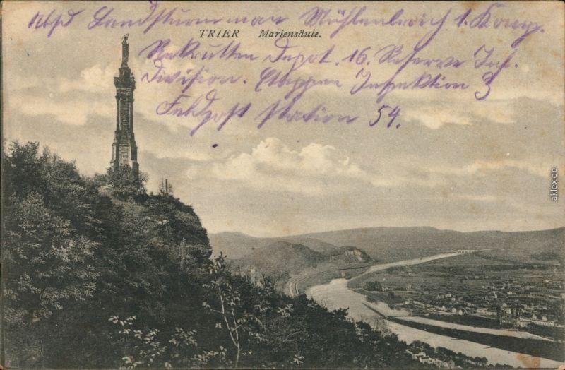 Ansichtskarte Trier Mariensäule 1915