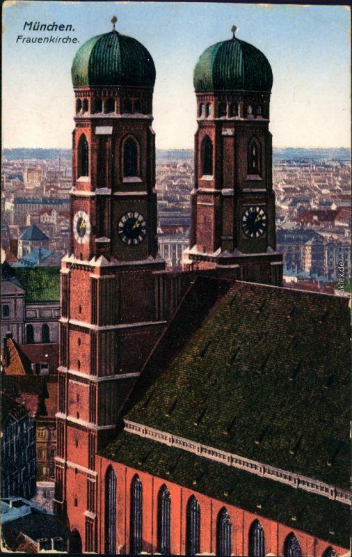 Ansichtskarte München Frauenkirche 1924