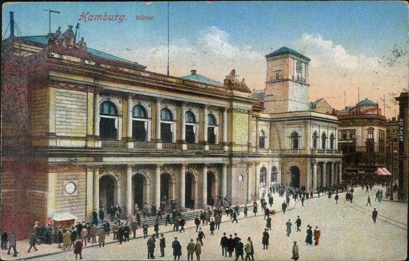 Ansichtskarte Hamburg Börse 1920