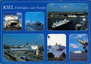 Ansichtskarte Holtenau-Kiel Holtenå Fährhafen zum Norden 1991