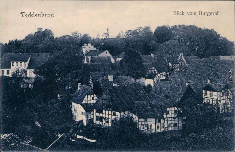 Ansichtskarte Tecklenburg Blick vom Burggraf 1920