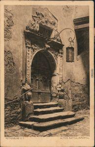 Ansichtskarte Rothenburg ob der Tauber Altes Rathausportal 1904