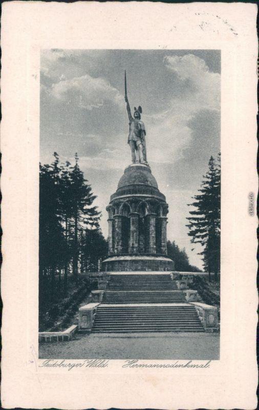 Ansichtskarte Hiddesen-Detmold Hermannsdenkmal 1929