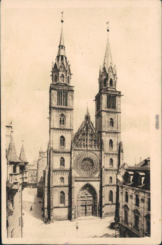 Ansichtskarte Nürnberg Lorenzkirche 1916