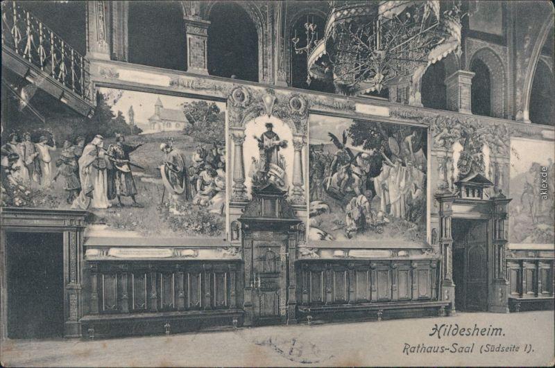 Ansichtskarte Hildesheim Rathaus-Saal (Südseite) 1906