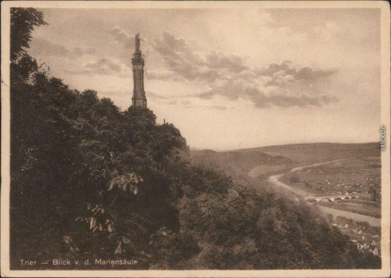Ansichtskarte Trier Mariensäule 1934