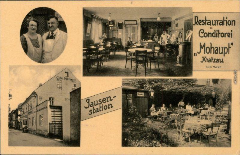 Kratzau Chrastava 4 Bild Conditorei Mohaupt, Jausenstation b Liberec 1926