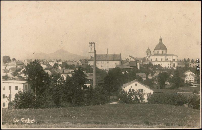 Deutsch Gabel Jablonné v Podještědí Blick auf  Fabrik b Gablonz 1930