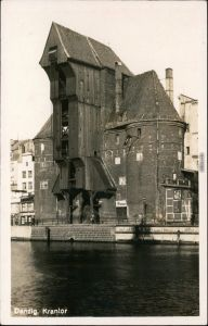 Ansichtskarte Danzig Gdańsk/Gduńsk Krantor/Krahntor 1930 Privatfoto