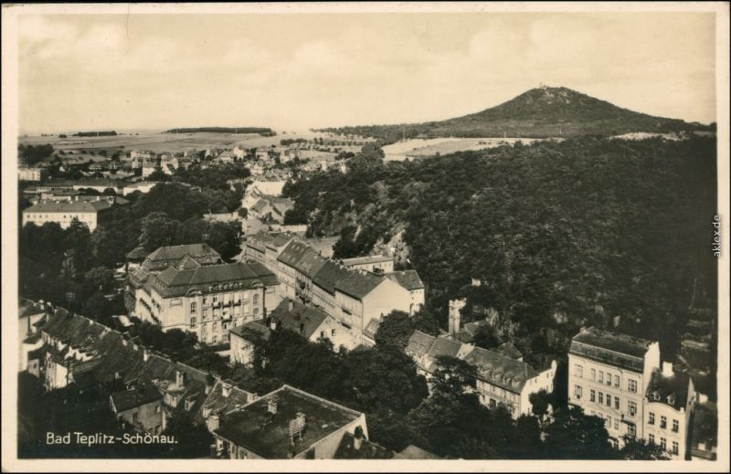 Ansichtskarte Tetschen-Bodenbach Decín Stadt - Straßenblick 1931