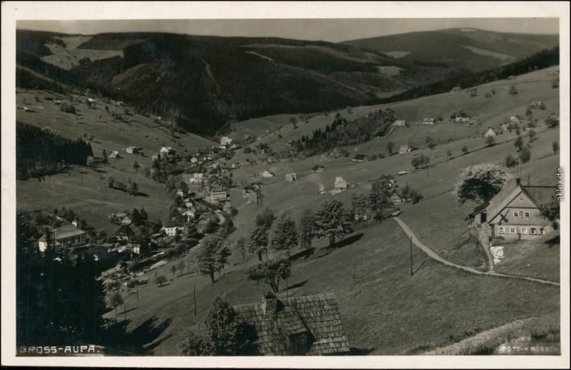Groß Aupa-Petzer Velká Úpa Pec pod Sněžkou Blick ins Tal 1932
