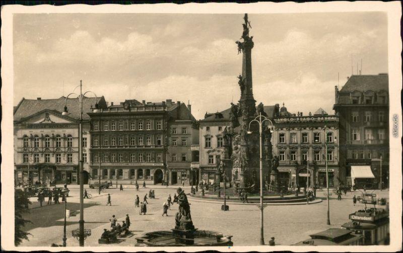 Ansichtskarte Olmütz Olomouc Partie auf dem Marktplatz 1932