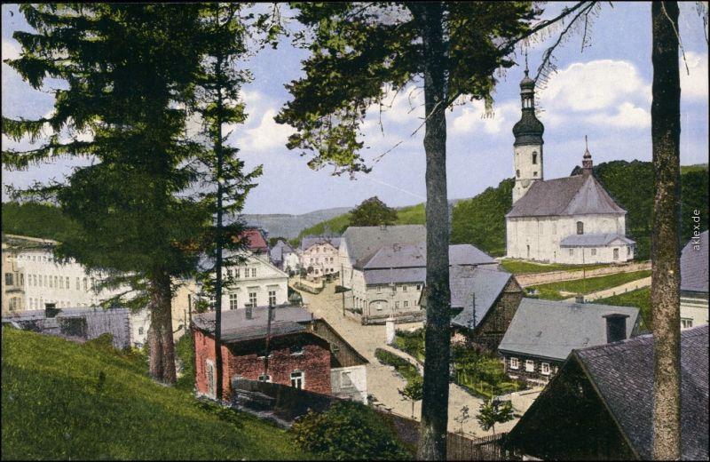 Ansichtskarte Zeidler Brtniky Straße b  Ehrenberg Tetschen Děčín 1912
